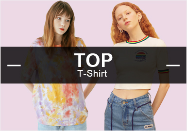 T-Shirt -- S/S 2019 Popular Items in Womenswear Markets