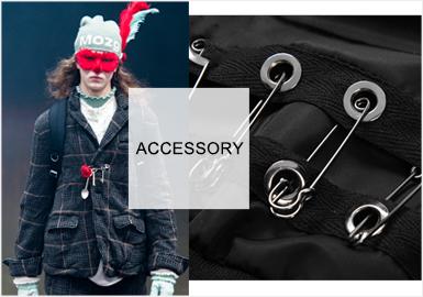 Core Punk -- A/W 20/21 Metallic Accessories Trend for Menswear