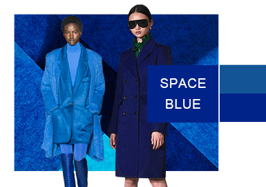 Space Blue -- Color Evolution of Womenswear