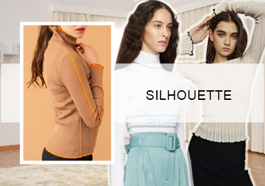 The Updated Base-Layer -- Silhouette Trend of Women's Knitwear