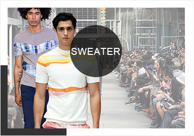 Sporty Lines and Planes -- Comprehensive Analysis of Men's Knitwear at Catwalks