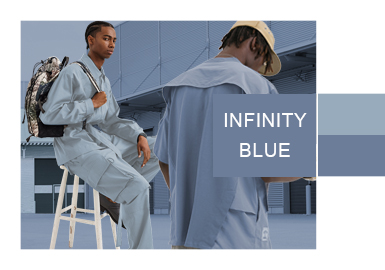 Infinity Blue -- Color Evolution for Menswear