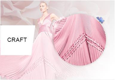 Pleat Aesthetic -- Craft Trend for Women's Formalwear