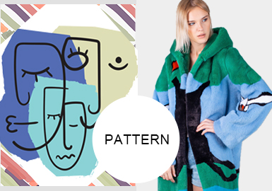 New and Interesting Intarsia Techniques -- Pattern Trend for Women's Furs