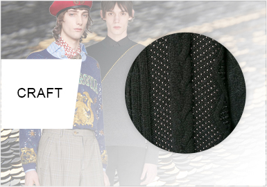 Rhinestones, Sequins and Beads -- Craft Trend for Men's Knitwear