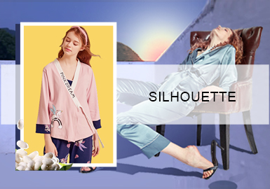 Silky and Shiny -- The Silhouette Trend for Women's Loungewear