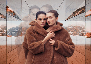 Off-Line Slow-Paced Life -- The Thematic Color Trend for Women's Fur Coats
