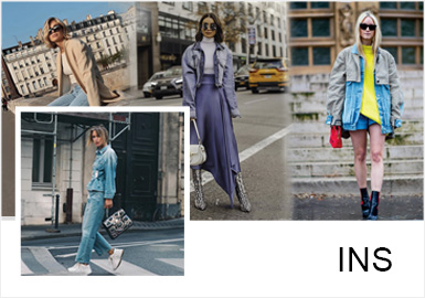 INS Fashion Bloggers -- Cool Denim Dressing