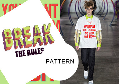 Offbeat Colored Letters -- The Pattern Trend for Menswear