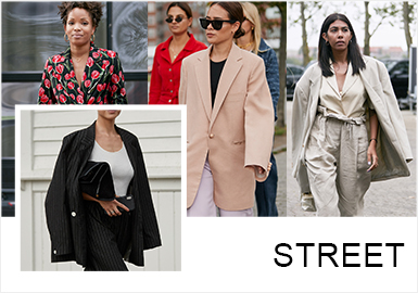 Cosy and Slick -- The Comprehensive Analysis of Street Snaps of Women's Suits
