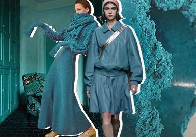 Ceramic Blue -- Theme Color Trend for Womenswear