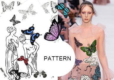 The Fashion Gene in The Butterfly-- Pattern Trend for Womenswear