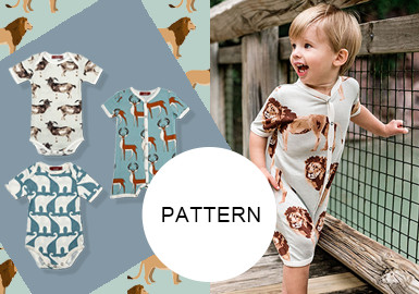 All-over Animal Pattern- The Pattern Trend for Infants' Wear