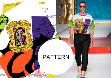Artistic Portraits- The Pattern Trend for Menswear