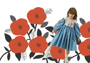 Big Color-blocked Florals -- The Pattern Trend for Kidswear