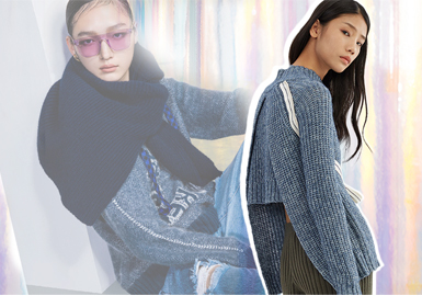 Magic of Reality and Virtuality -- PortsPUR The Analysis of Women's Knitwear Benchmark Brand
