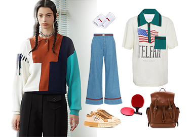 Retro Sports Style -- Clothing Collocation of Women's Knitwear
