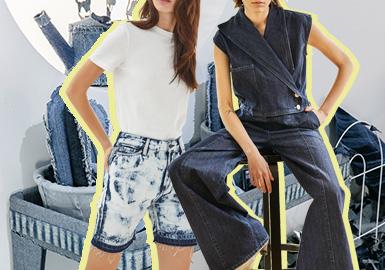Retro -- The Silhouette Trend for Women's Denim