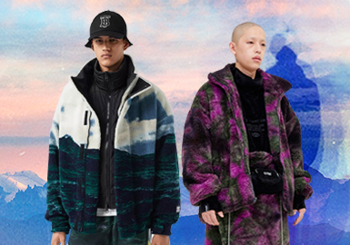 Exploring The Boundary of Nature -- The Pattern Trend for Men's and Women's Fleece