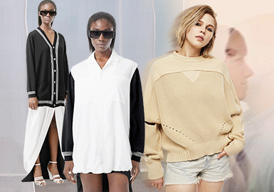Integrated into One -- The Splicing Craft Trend for Women's Knitwear