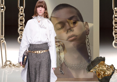 Metal Era -- The Accessory and Fabric Trend for Womenswear