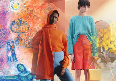 The Dream World from Marc Chagall -- The Theme Color Trend for Women's Knitwear