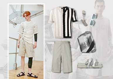 Futuristic Geek -- Clothing Collocation for Men's Knitwear