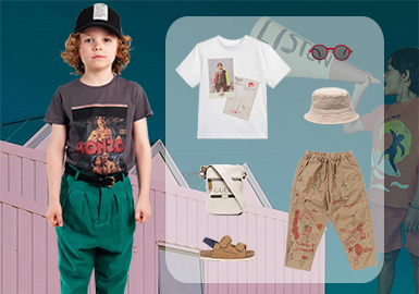 Self-expression -- Clothing Collocation for Boys' T-shirts
