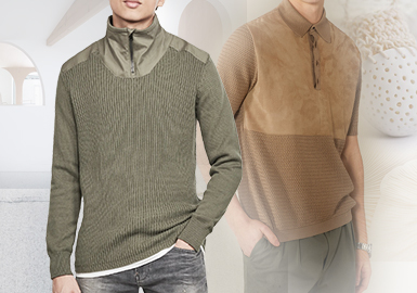 Mixed Materials -- The Splicing Craft Trend for Men's Knitwear