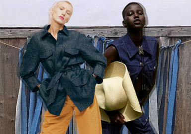 Overturn Convention -- The Silhouette Trend for Women's Denim Outerwear