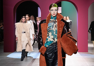 Color Impact -- The Comprehensive Analysis of Women's Leather/Fur on Catwalks