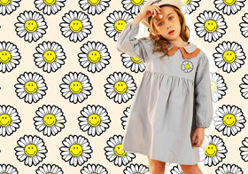 Vibrant Daisy -- The Pattern Trend for Kidswear