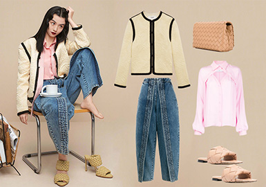 Commute Looks -- Clothing Collocation for Women's Jeans