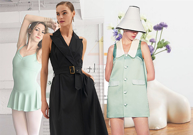 Graceful Modern Aesthetics -- The Silhouette Trend for Women's Dresses