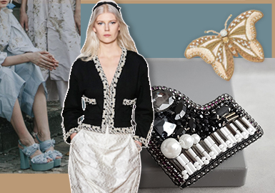 French Beaded Embroidery -- The Accessory Trend for Womenswear