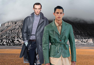 Urban Vagrants -- The Silhouette Trend for Men's Leather Coats