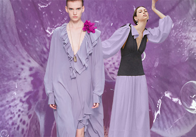Iris Purple -- The Thematic Color Trend for Womenswear