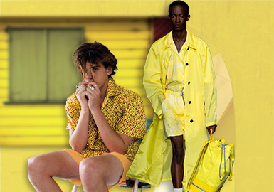 Celandine -- The Thematic Color Trend for Menswear
