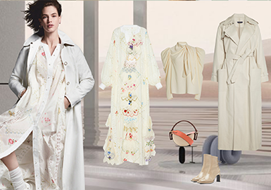 Ethereal Trench Coats -- Clothing Collocation for Women's Trench Coats