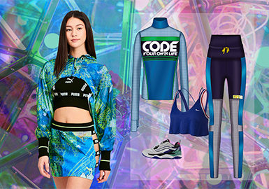 Retro Video Games -- Clothing Collocation for Women's Sportswear