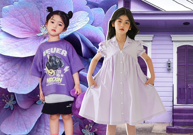 Purple Tones -- The Color Trend for Kidswear