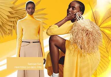Samoan Sun -- The Color Trend for Women's Knitwear