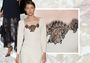 Fine Sensibility/ New Perspective on Romance -- The Trend for Lace in Women's Knitwear
