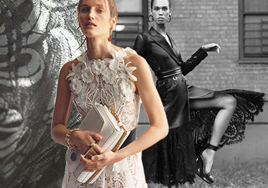 New Lace -- The Trend for Womenswear Lace