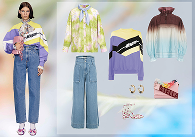 Mix & Match of Sweet and Cool Styles -- Clothing Collocation of Fashion Leisure Womenswear