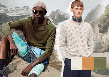Lost Horizon -- -- Thematic Color Trend for Men's Knitwear