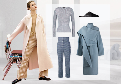 New Vintage -- Clothing Collocation for Women's Knitwear and Overcoats