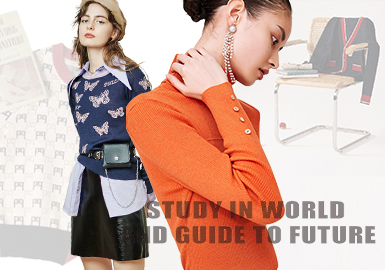 Study in World and Guide to Future -- PSALTER The Benchmark Brand of Women's Knitwear