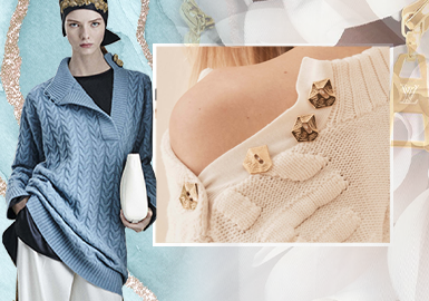 Collar Designs -- The Craft Detail Trend for Women's Knitwear