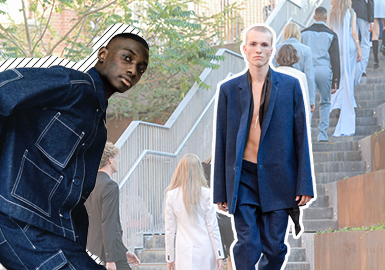 Sustainable and Recyclable -- Comprehensive Analysis of Men's Denim in Online Fashion Weeks